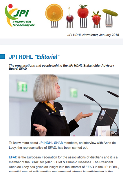 JPI HDHL Newsletter, January 2018