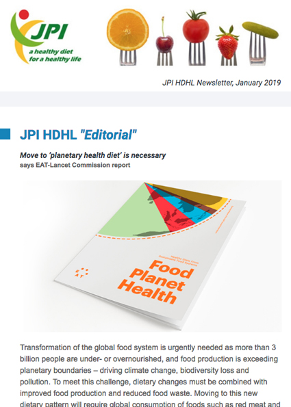 JPI HDHL Newsletter, January 2019