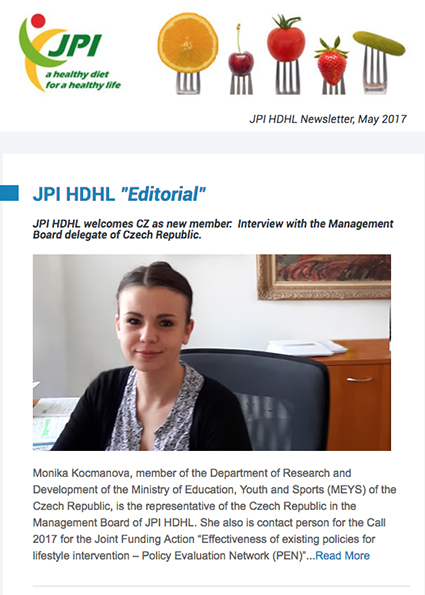 JPI HDHL Newsletter, May 2017