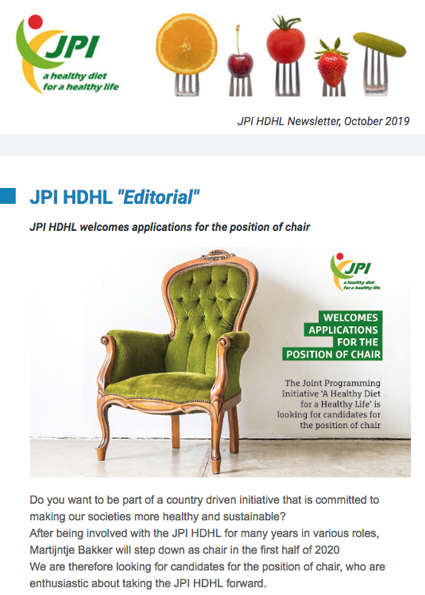 JPI HDHL Newsletter, October 2019